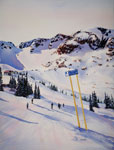 To Peak Chair - Whistler Painting by Kendra Smith