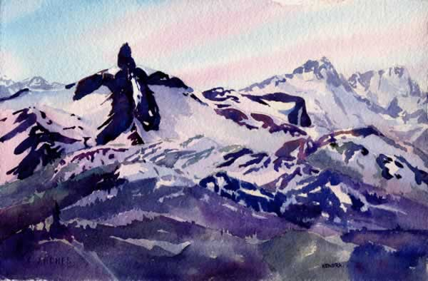 WHIS37 Whistler 37 7x11 Tusk View by KendraArt