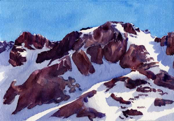 WHIS38 Whistler 38 7x11 The Peak by Kendra Dixson
