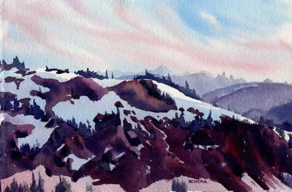 WHIS40 Whistler 40 7x11 Ridge Sunset by Kendra Dixson